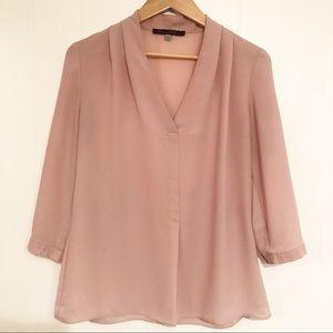 Rose & Olive Blush / Soft Pink Sheer Blouse